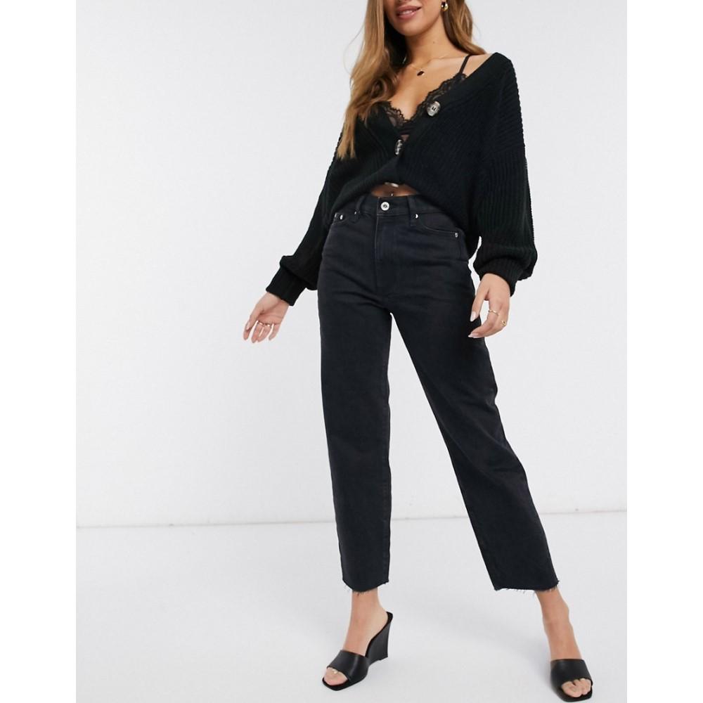 リバーアイランド River Island レディース ジーンズ・デニム ウォッシュ加工 ボトムス・パンツ【crop denim jeans in washed black】Washed black
