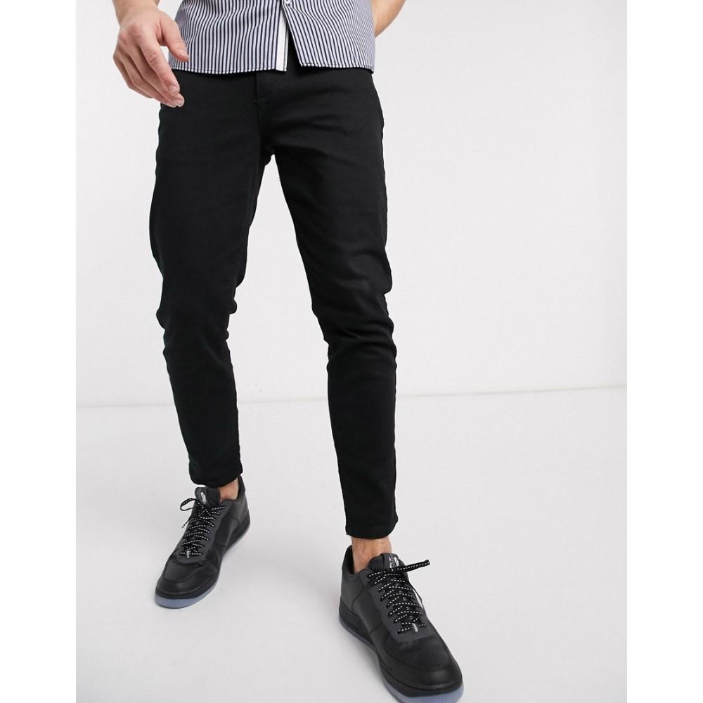 リバーアイランド River Island メンズ ジーンズ・デニム ボトムス・パンツ【tapered jeans in black】Black