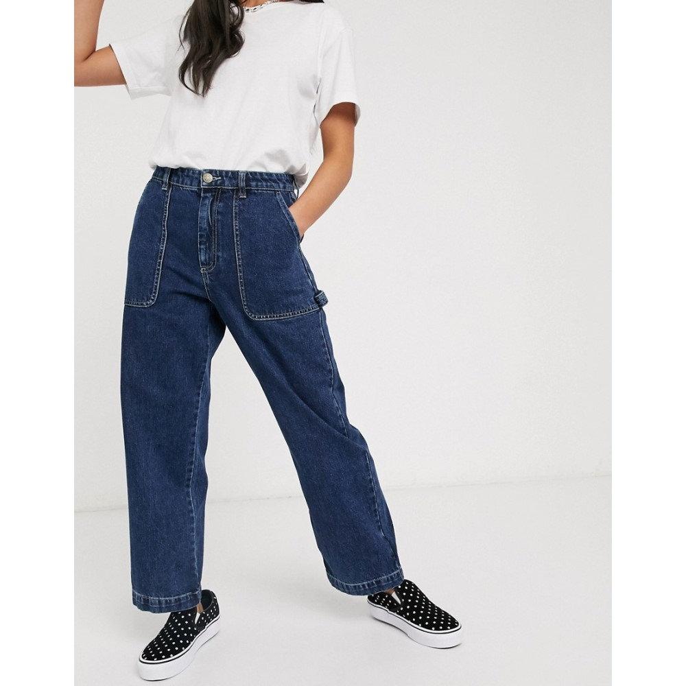 モンキー Monki レディース ジーンズ・デニム ワイドパンツ ボトムス・パンツ【Rio organic cotton wide leg jeans in blue】Blue