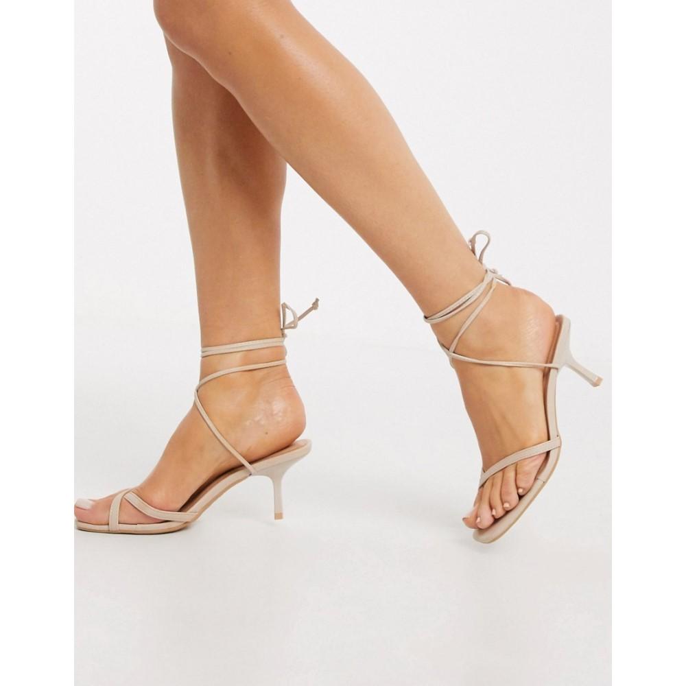 ニュールック New Look レディース サンダル・ミュール シューズ・靴【wrap around sandal in oatmeal】Oatmeal