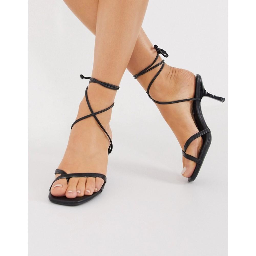 ニュールック New Look レディース サンダル・ミュール シューズ・靴【wrap around sandal in black】Black