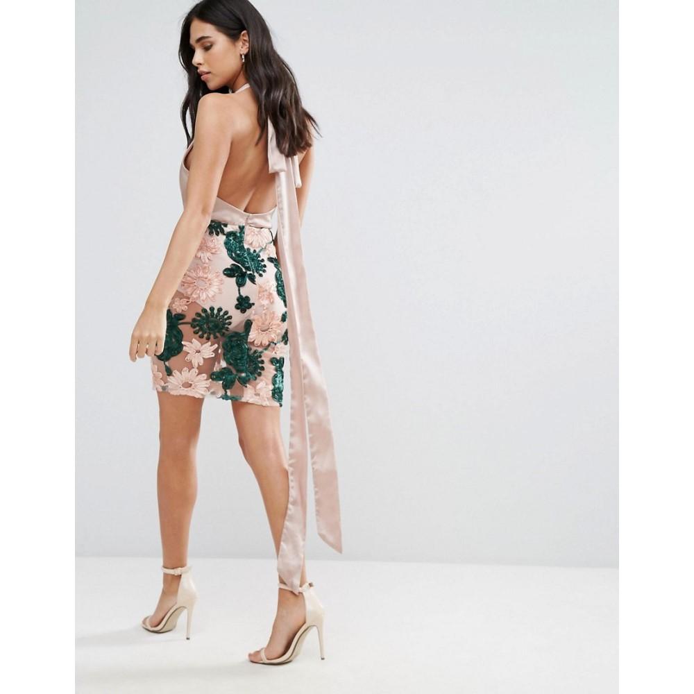 ラブアンドアザーシングス Love & Other Things レディース ワンピース ミドル丈 ワンピース・ドレス【Midi Dress With Embroidered Skirt】Green
