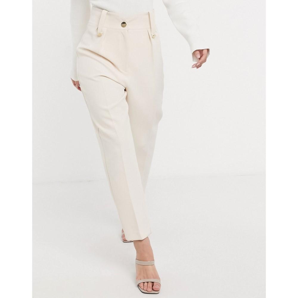 リバーアイランド River Island レディース ボトムス・パンツ 【tailored peg trousers in cream】Cream