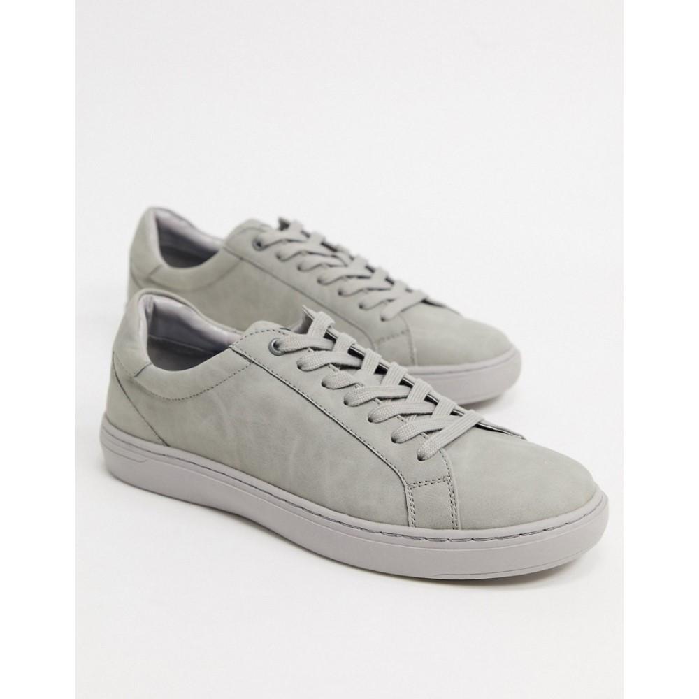 トップマン Topman メンズ スニーカー シューズ・靴【trainers in grey】Grey