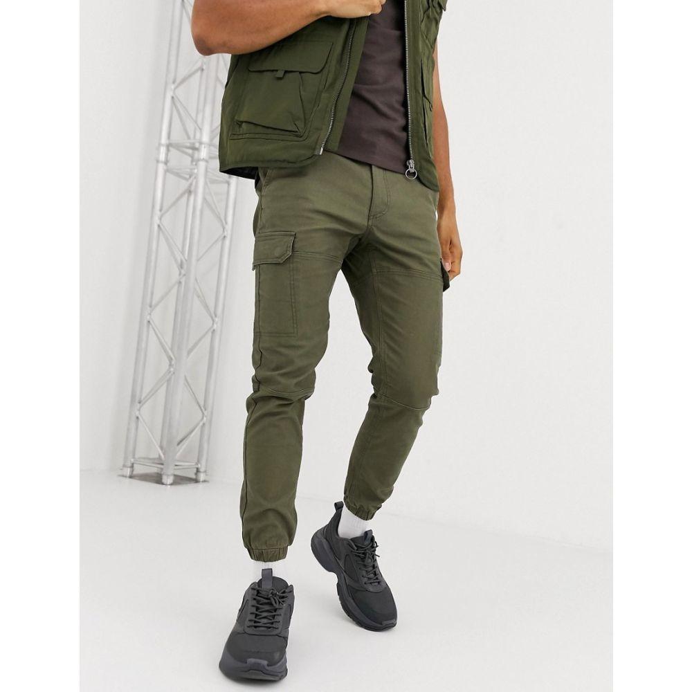 トップマン Topman メンズ カーゴパンツ ボトムス・パンツ【cargo trousers in khaki】Khaki