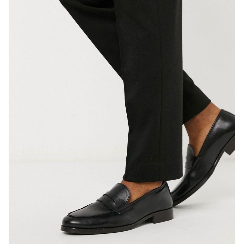 エイソス ASOS DESIGN メンズ ローファー シューズ・靴【loafer in black leather】Black