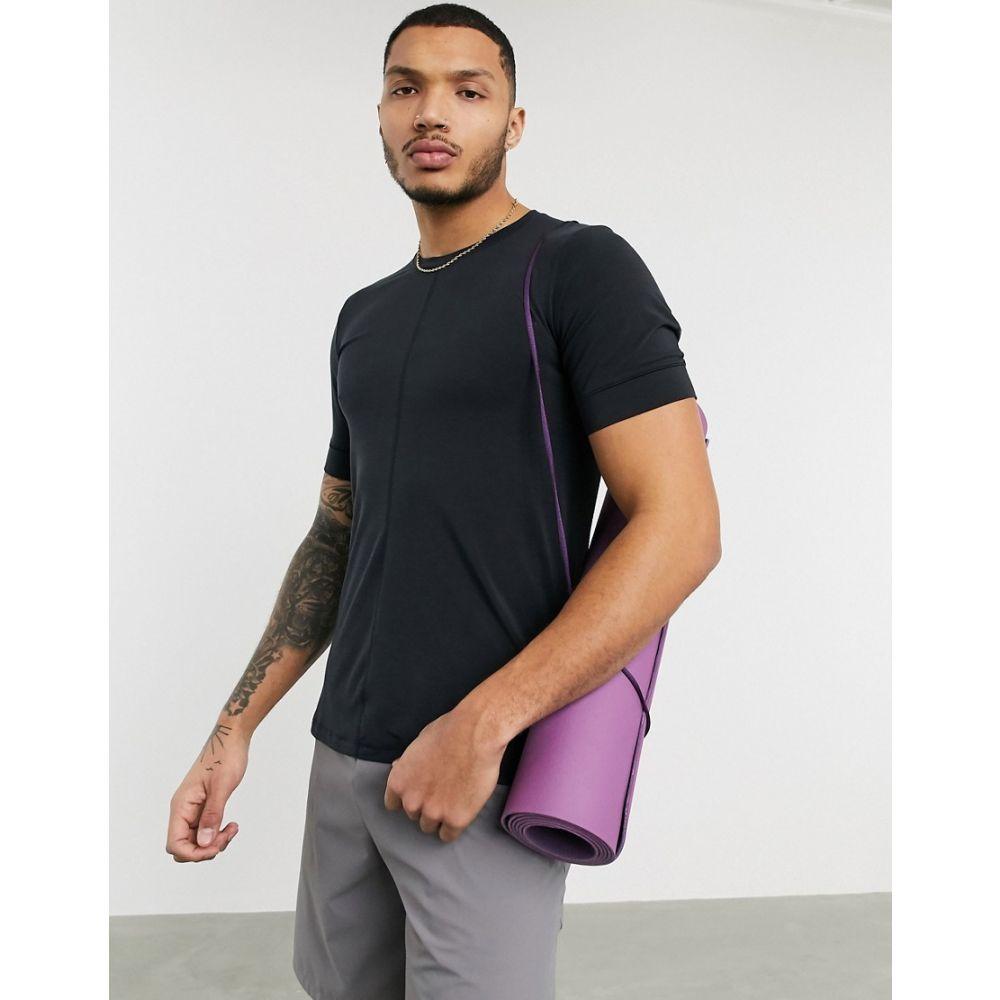 ナイキ Nike Training メンズ ヨガ・ピラティス Tシャツ トップス【Nike Yoga t-shirt in black】Black