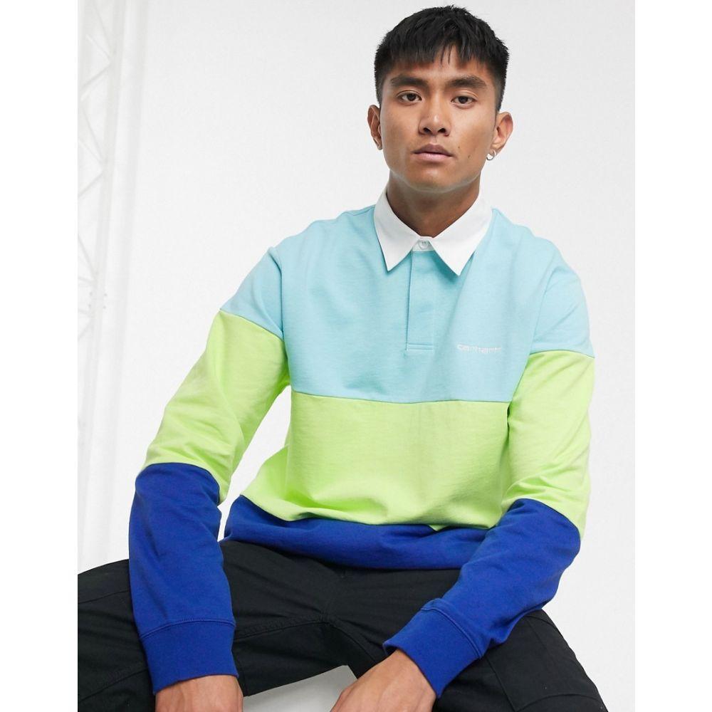 カーハート Carhartt WIP メンズ ポロシャツ トップス【Newport rugby shirt in multi】Window/lime/submarin