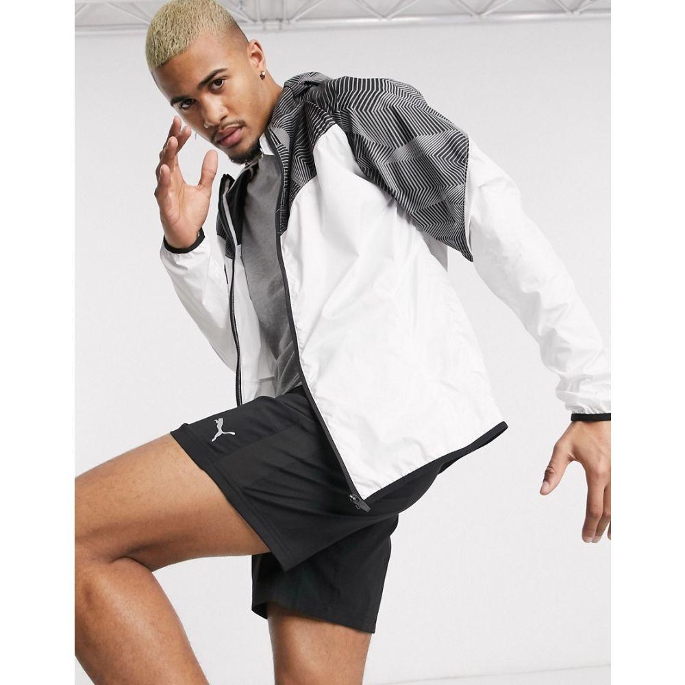 プーマ Puma メンズ ランニング・ウォーキング ジャケット アウター【Running graphic logo jacket in white】White