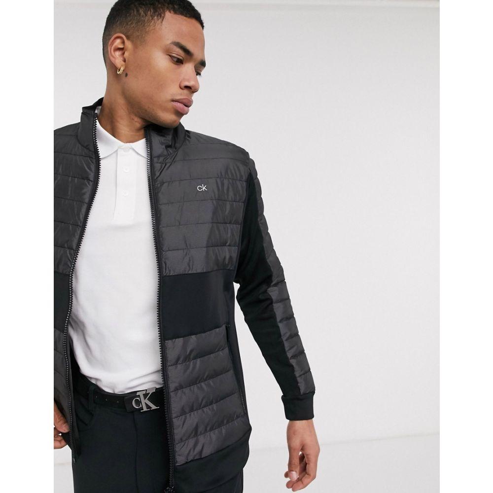 カルバンクライン Calvin Klein Golf メンズ ダウン・中綿ジャケット アウター【Hybrid padded jacket in black】Black
