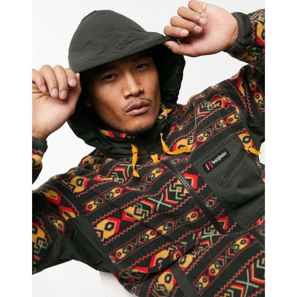バーグハウス Berghaus メンズ フリース トップス【Ascent 91 aztec full zip fleece in black】Aztec peat