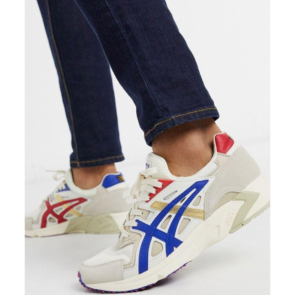 アシックス Asics メンズ スニーカー シューズ・靴【Ascics Gel-DS trainers in cream】Cream/asics blue