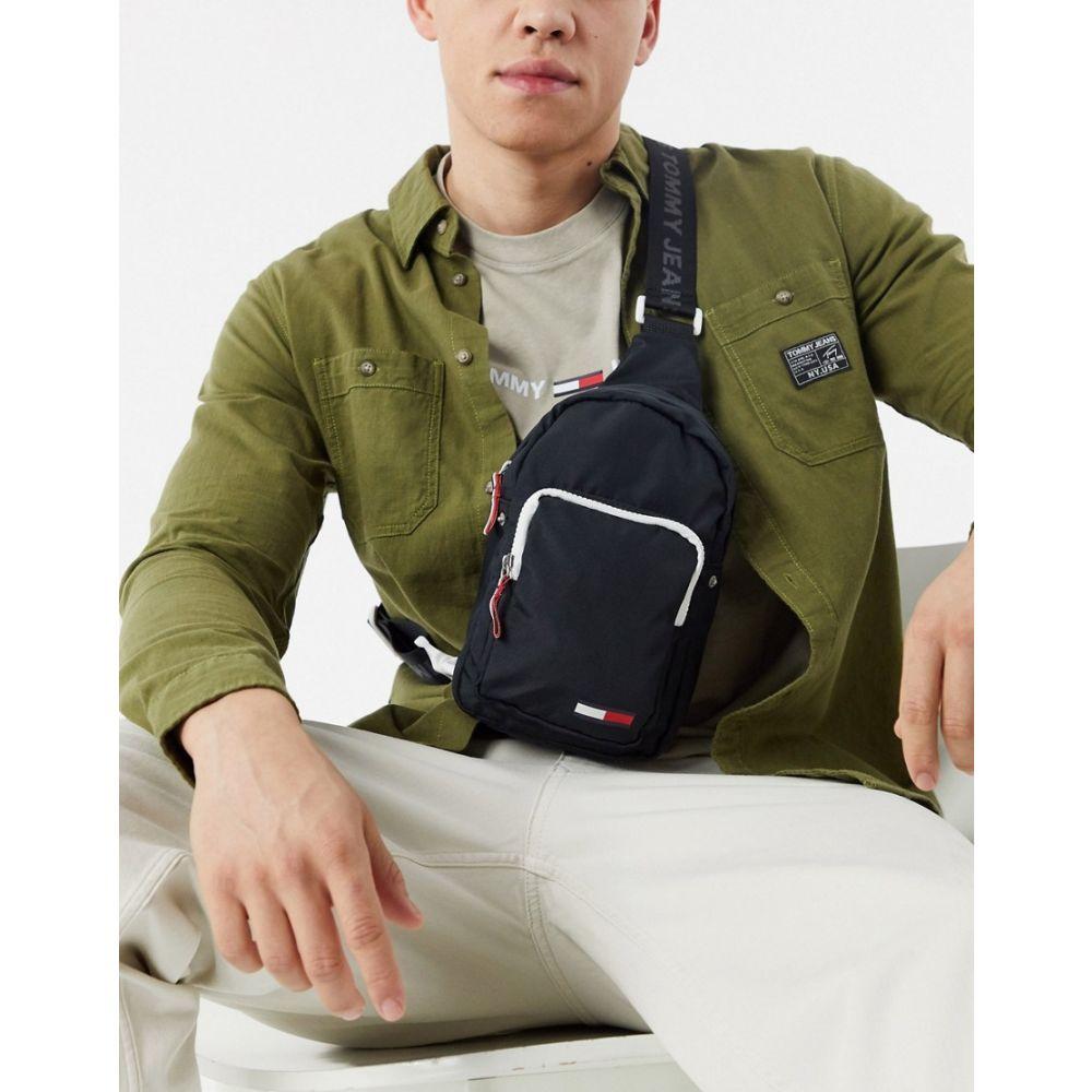 トミー ジーンズ Tommy Jeans メンズ バッグ 【city crossover bag with logo in black】Black