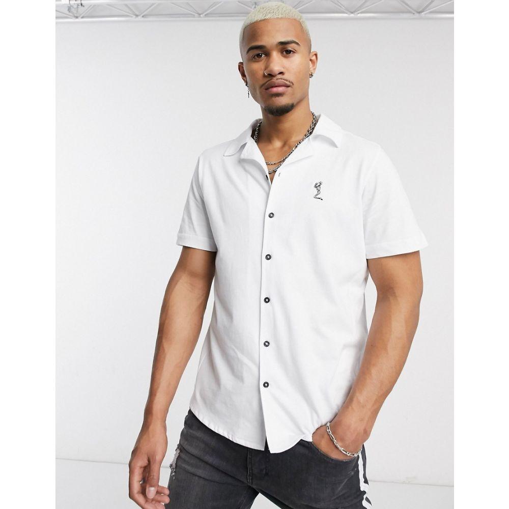 レリジョン Religion メンズ シャツ トップス【revere collar jersey shirt in white】White