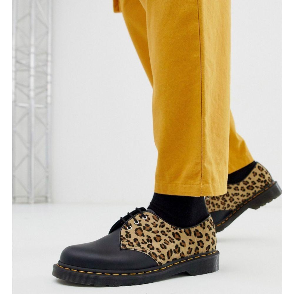 ドクターマーチン Dr Martens メンズ シューズ・靴 【1461 3 eye shoes in leopard】Black