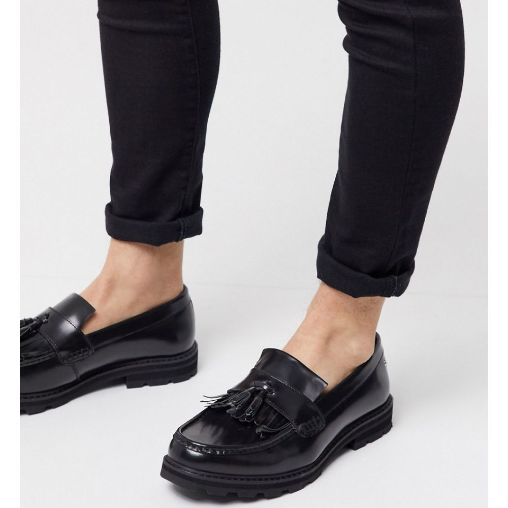 ベンシャーマン Ben Sherman メンズ ローファー シューズ・靴【leather tassle loafer in black】Black