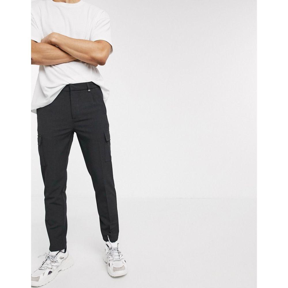 セリオ Celio メンズ カーゴパンツ ボトムス・パンツ【smart cargo trousers in grey】Grey