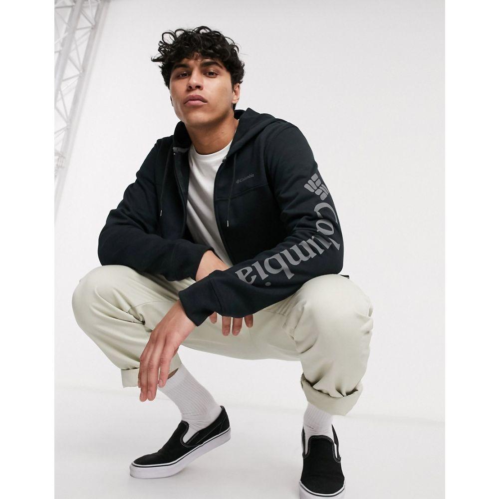 コロンビア Columbia メンズ フリース トップス【logo fleece FZ in black】Black city grey