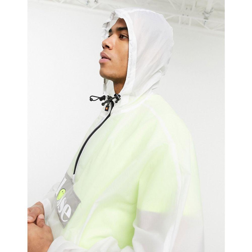 エレッセ ellesse メンズ ポンチョ アウター【x Smiley Gioco logo poncho in white】White