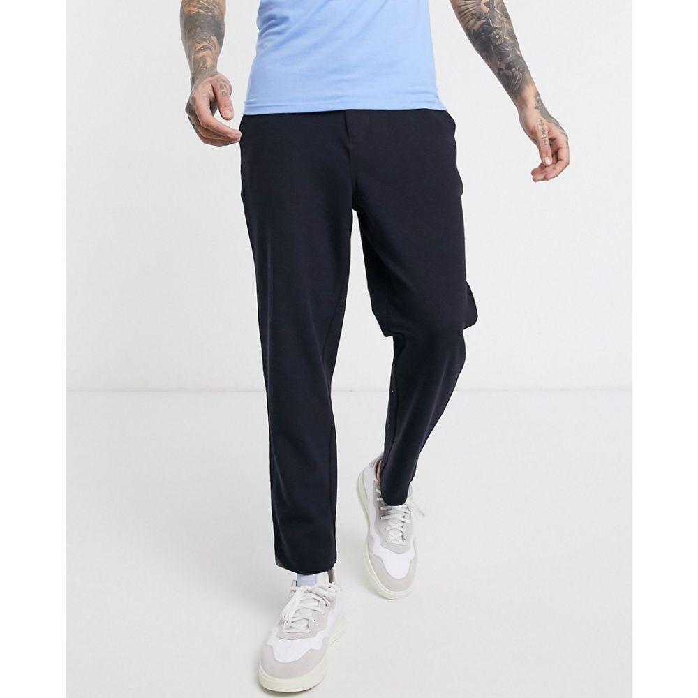 ファーラー Farah メンズ クロップド ボトムス・パンツ Hawtin hopsack cropped trousers in navy True navyY76vbfyg
