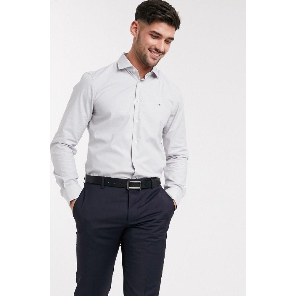 トミー ヒルフィガー Tommy Hilfiger メンズ シャツ トップス【micro design classic slim fit shirt】Grey