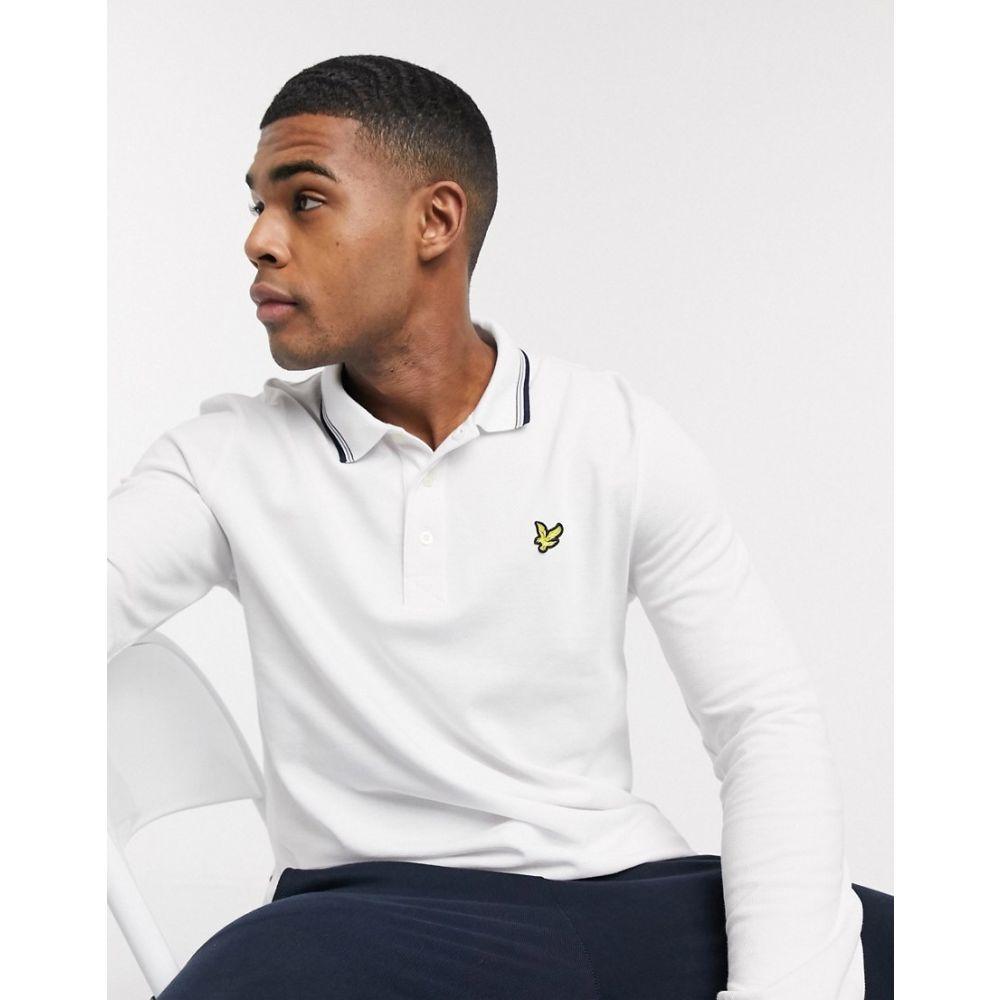 ライル アンド スコット Lyle & Scott メンズ ポロシャツ トップス【long sleeve tipped polo shirt】White
