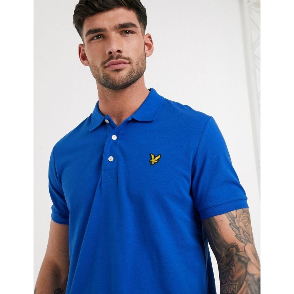ライル アンド スコット Lyle & Scott メンズ ポロシャツ トップス【plain polo shirt】Blue