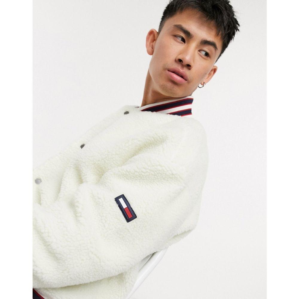 トミー ジーンズ Tommy Jeans メンズ ブルゾン ミリタリージャケット アウター【Tommy Hilfiger Jeans teddy bomber jacket】White