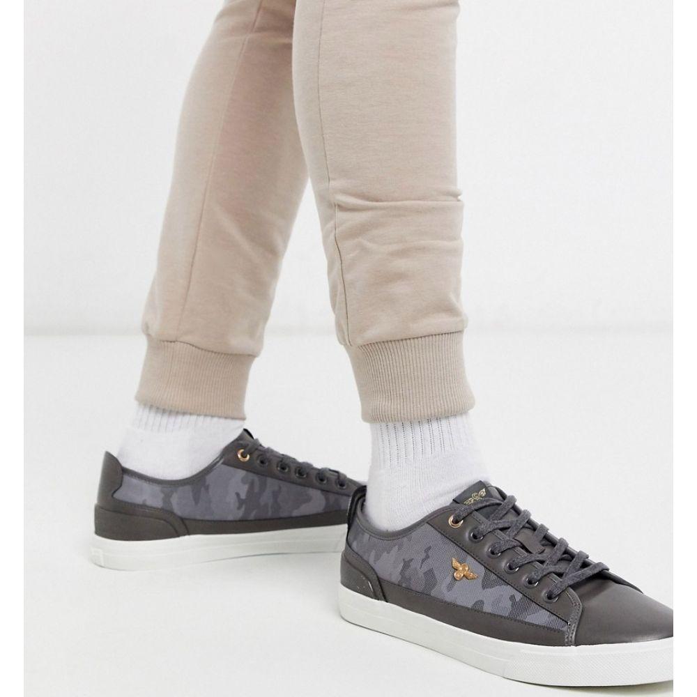 クリエイティブ レクリエーション Creative Recreation メンズ スニーカー シューズ・靴【camo textured trainers in grey】Grey