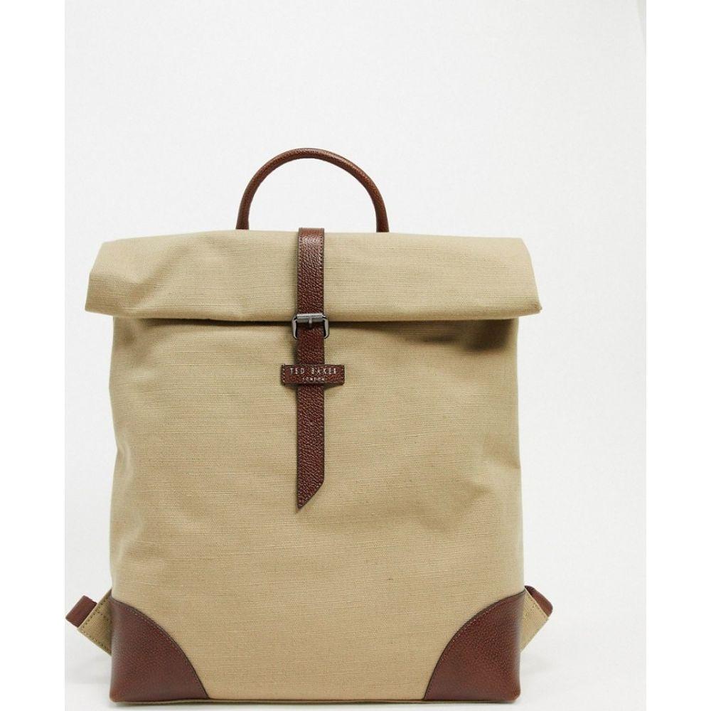テッドベーカー Ted Baker メンズ バックパック・リュック バッグ【Featt recycled canvas backpack in beige】Beige