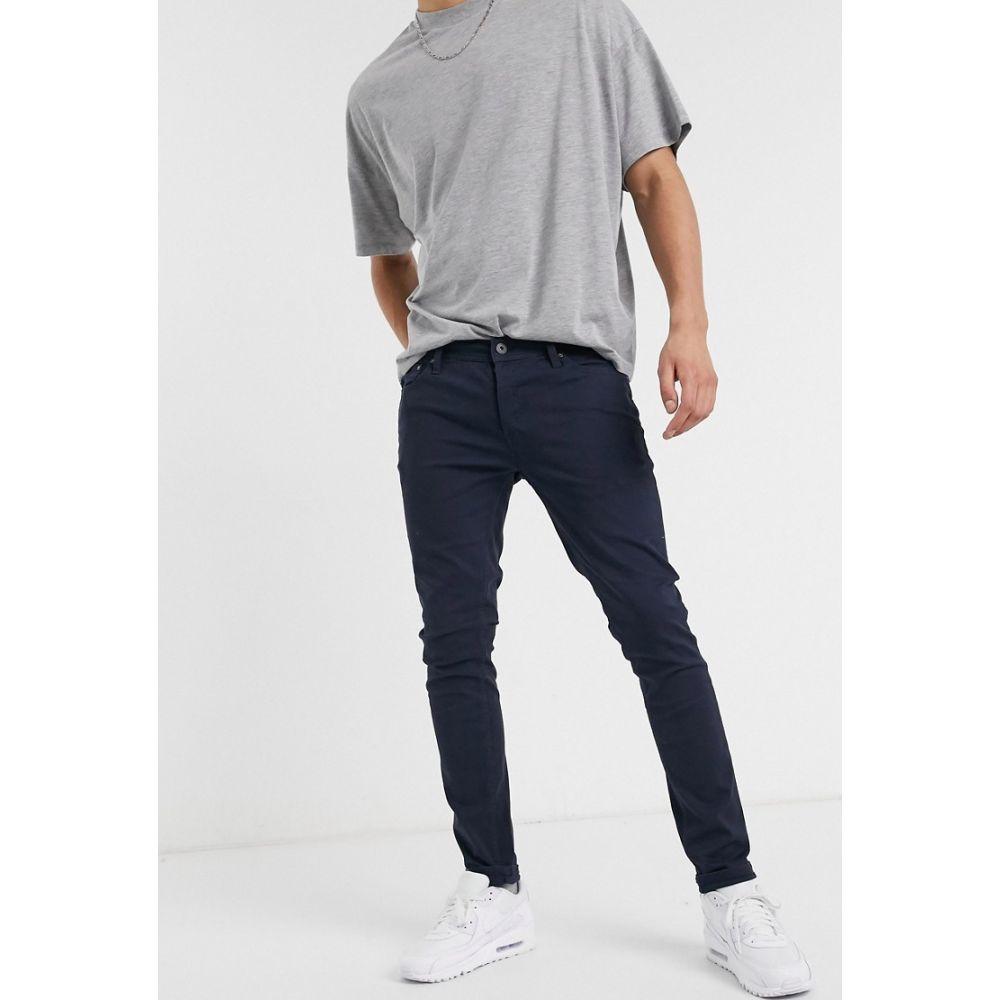 ジャック アンド ジョーンズ Jack & Jones メンズ スキニー・スリム ボトムス・パンツ【Intelligence skinny fit 5 pocket trousers in navy】Navy blazer