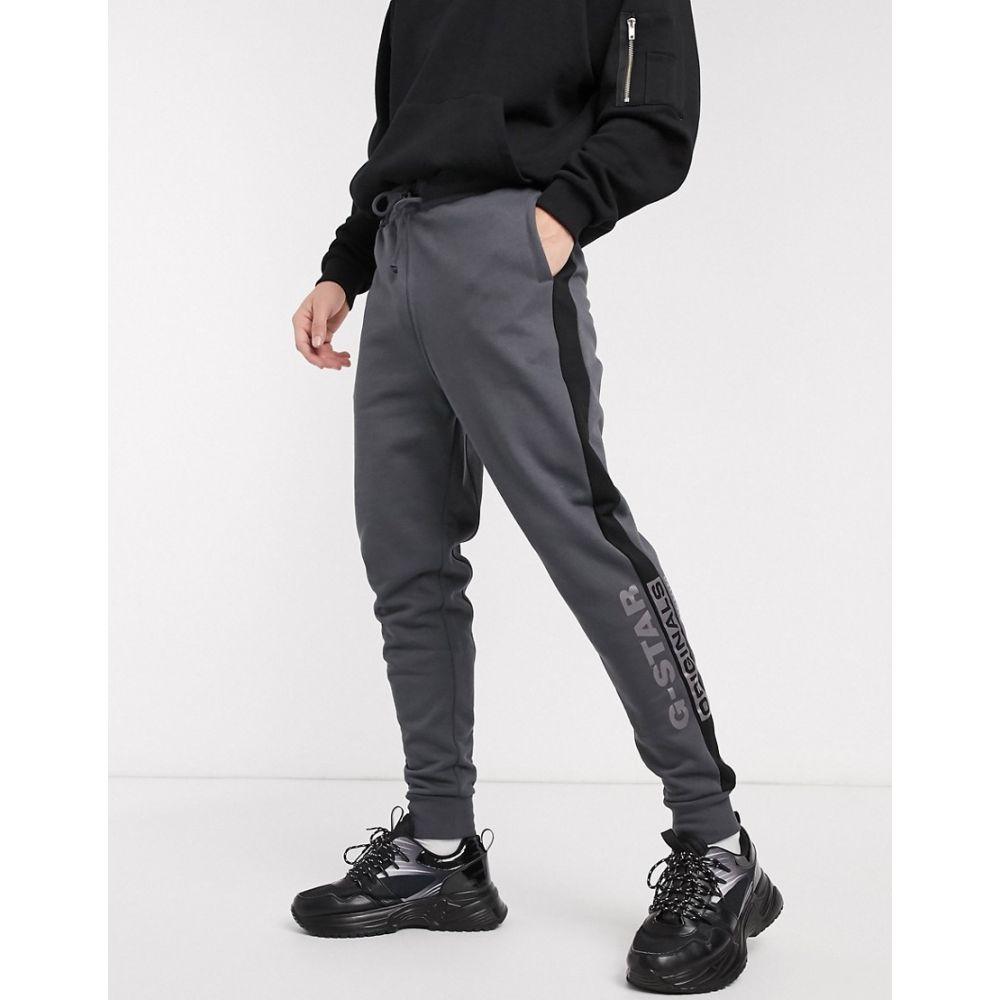 ジースター ロゥ G-Star メンズ ジョガーパンツ ボトムス・パンツ【Originals side logo joggers in grey】Grey