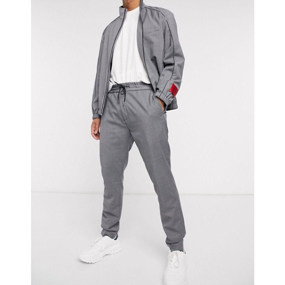 ヒューゴ ボス HUGO メンズ ボトムス・パンツ 【Zennet202 drawstring pinstripe trousers in grey】Grey