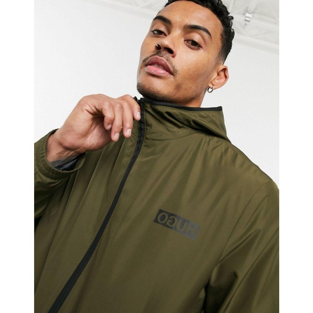 ヒューゴ ボス HUGO メンズ ジャケット フード アウター【Ben2021 light weight hooded jacket in khaki】Khaki
