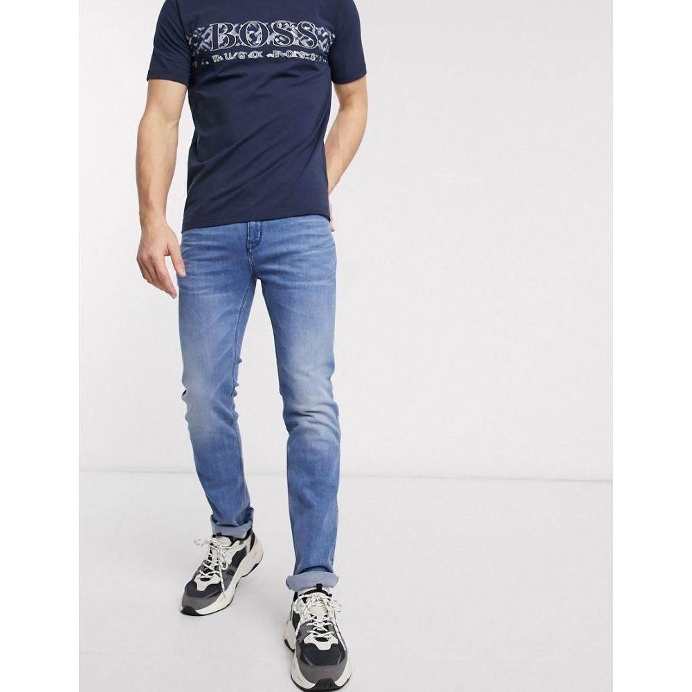 ヒューゴ ボス HUGO メンズ ジーンズ・デニム ボトムス・パンツ【708 slim fit jeans in light blue wash】Blue
