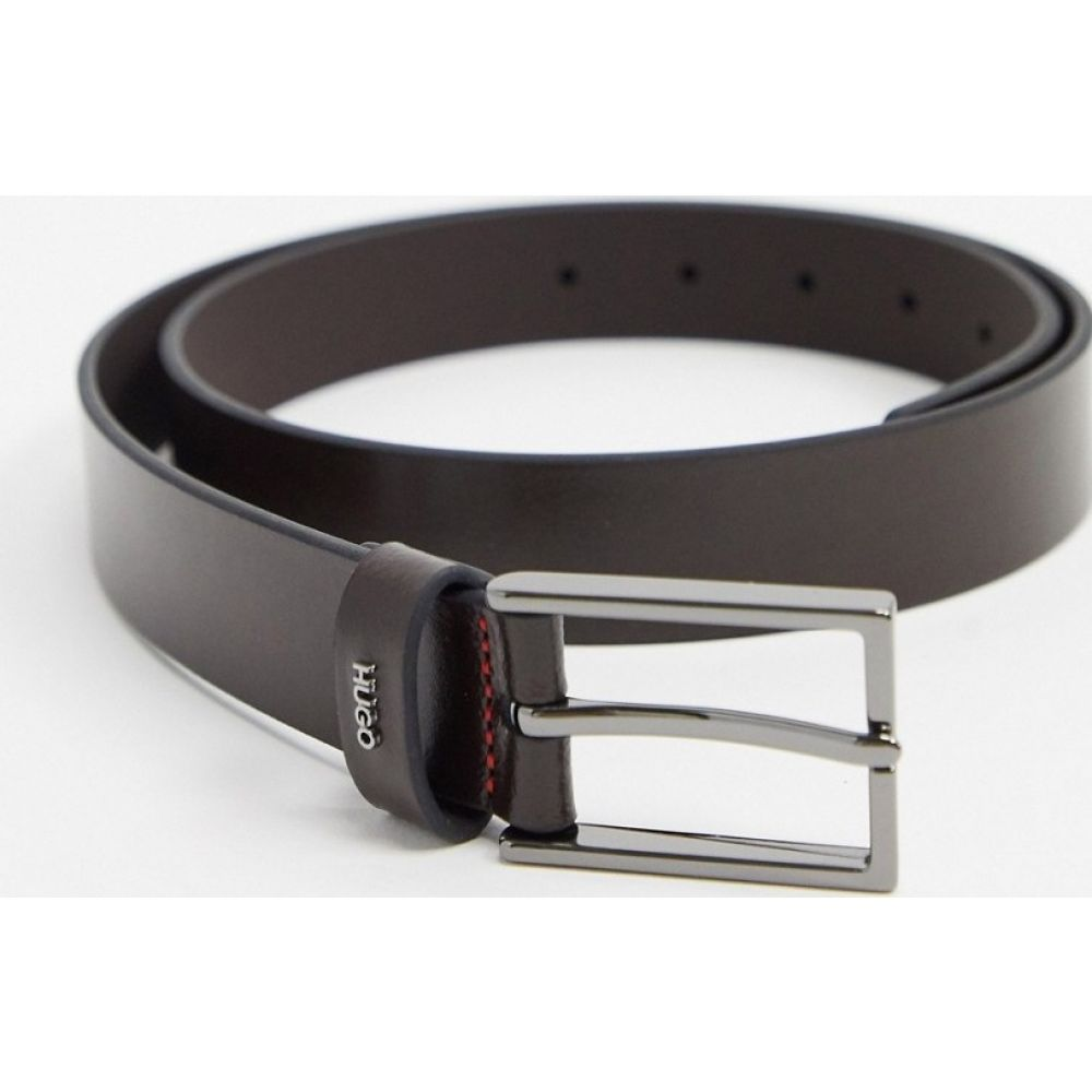 ヒューゴ ボス HUGO メンズ ベルト 【Gild leather belt in dark brown】Dark brown