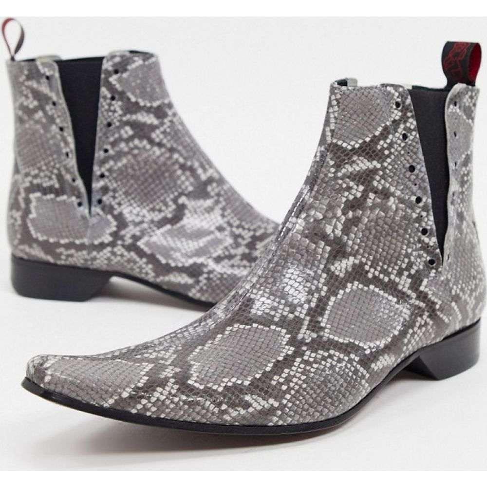 ジェフリー ウエスト Jeffery West メンズ ブーツ チェルシーブーツ シューズ・靴【pino chelsea boot in grey snake】Grey