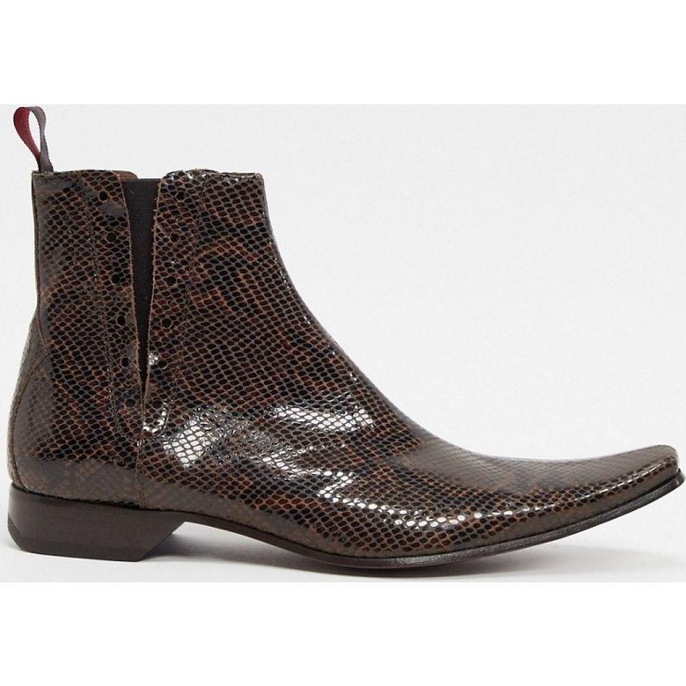 ジェフリー ウエスト Jeffery West メンズ ブーツ チェルシーブーツ シューズ・靴【pino chelsea boot in brown snake】Brown