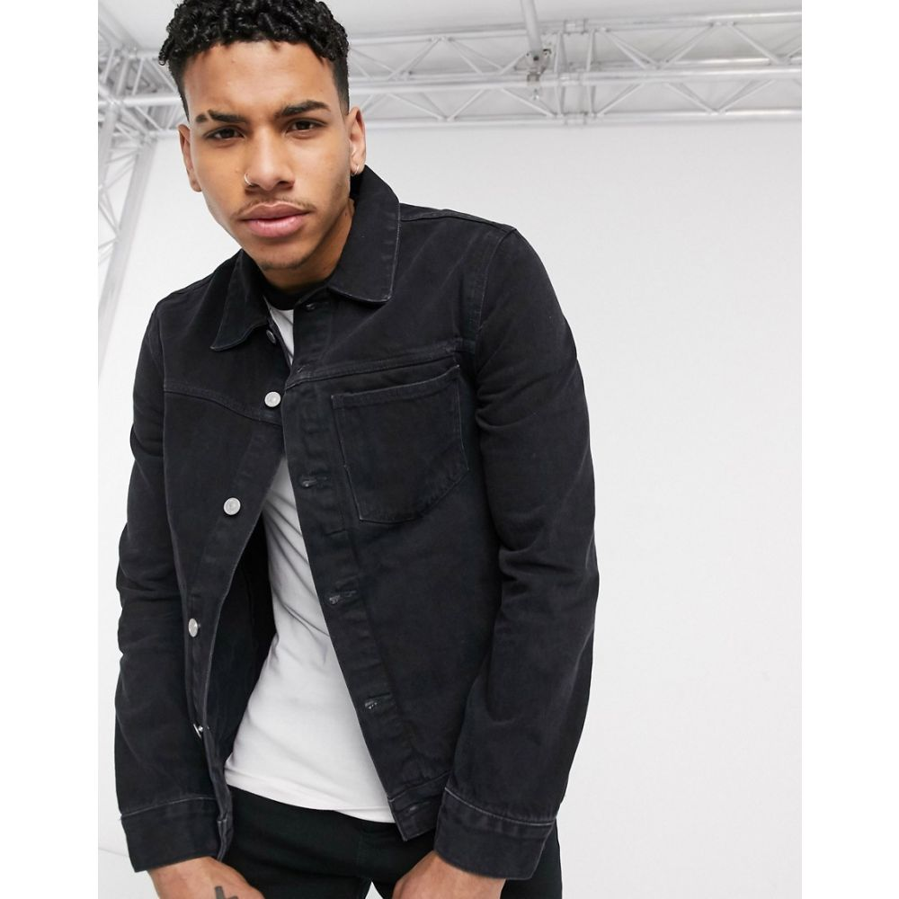 ウィークデイ Weekday メンズ ジャケット Gジャン アウター【core denim jacket in tuned black】Black