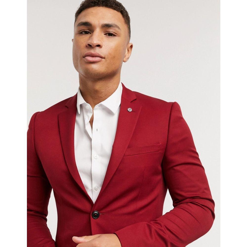 アヴェイルロンドン AVAIL London メンズ スーツ・ジャケット アウター【Avail London skinny fit suit jacket in chilli】Red