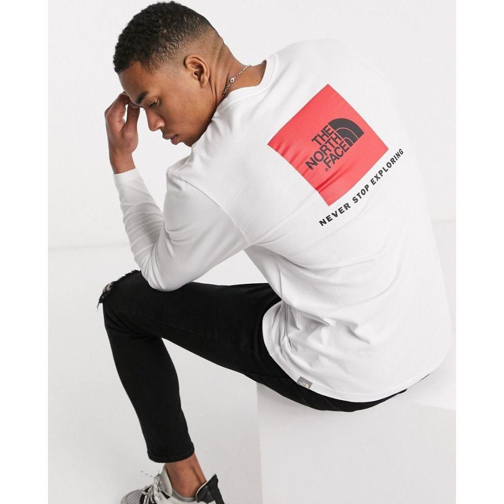 ザ ノースフェイス The North Face メンズ 長袖Tシャツ トップス【Red Box long sleeve t-shirt in white】Tnf white