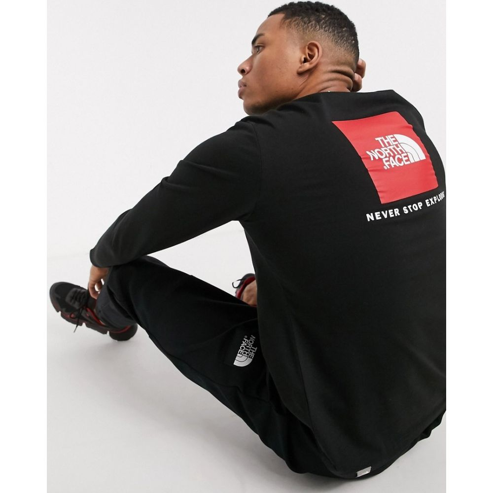 ザ ノースフェイス The North Face メンズ 長袖Tシャツ トップス【Red Box long sleeve t-shirt in black】Tnf black