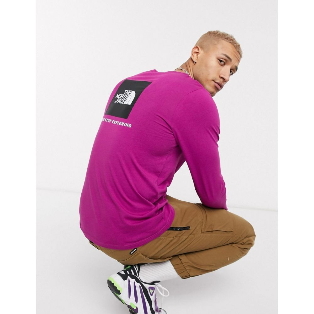 ザ ノースフェイス The North Face メンズ 長袖Tシャツ トップス【Red Box long sleeve t-shirt in purple】Wild aster purple