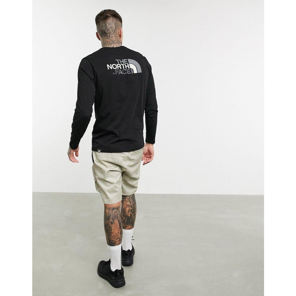 ザ ノースフェイス The North Face メンズ 長袖Tシャツ トップス【Easy long sleeve t-shirt in black】Tnf black/zinc grey