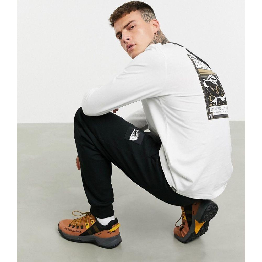 ザ ノースフェイス The North Face メンズ 長袖Tシャツ トップス【Faces long sleeve t-shirt with back print in white】Tnf white