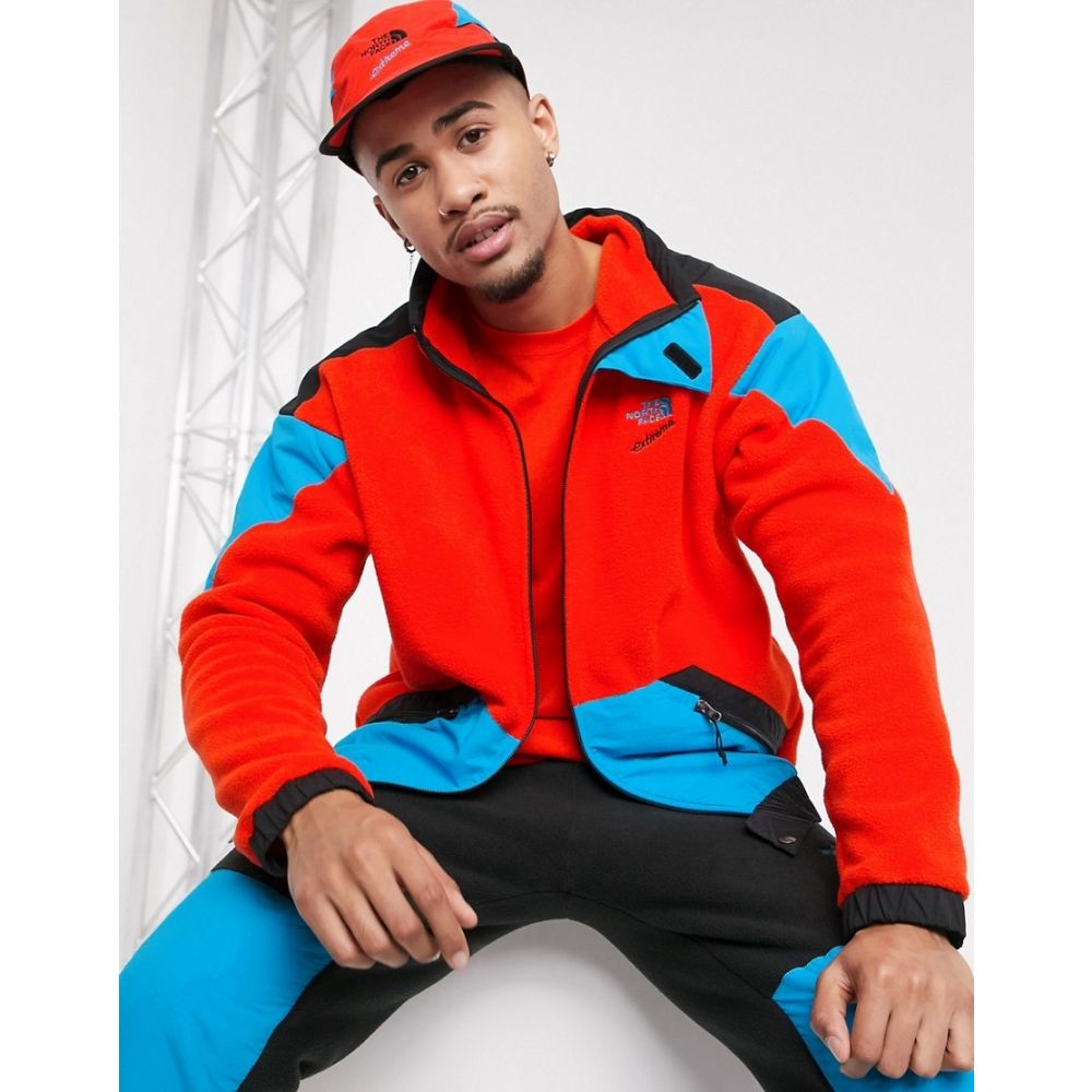 ザ ノースフェイス The North Face メンズ フリース トップス【90 Extreme full zip fleece jacket in red】Fiery red combo