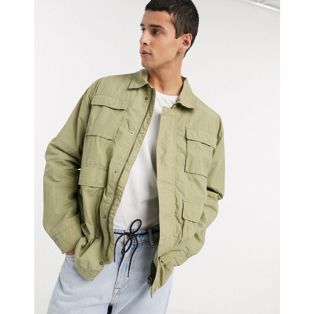 ウィークデイ Weekday メンズ ジャケット アウター【Nate jacket in khaki】Green