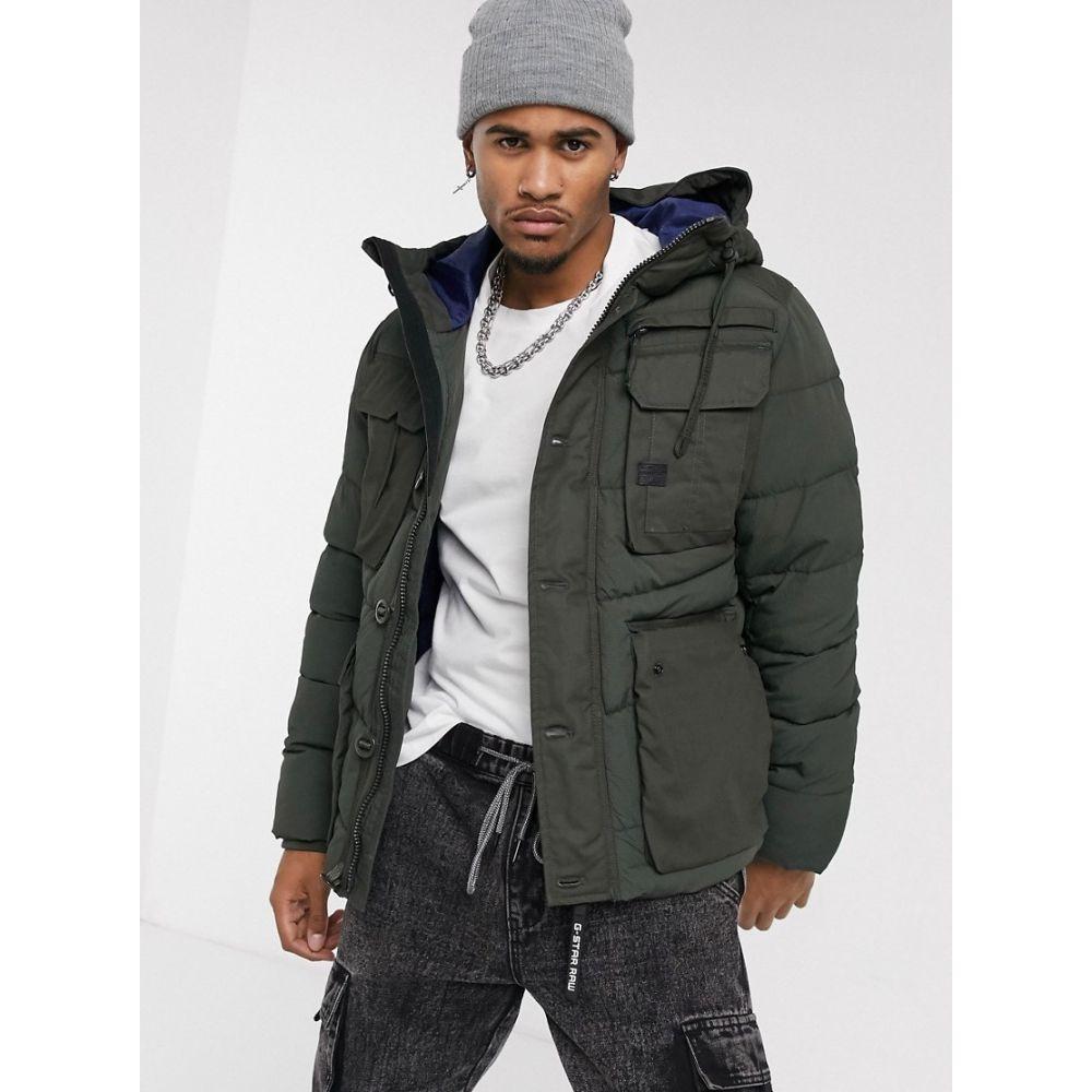 ジースター ロゥ G-Star メンズ ジャケット フード アウター【Whistler utility hooded jacket in khaki】Khaki