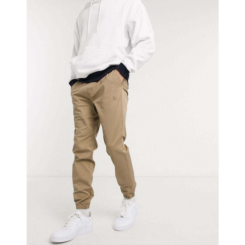 ジャック アンド ジョーンズ Jack & Jones メンズ ボトムス・パンツ 【Intelligence organic cotton cuffed trousers in sand】Kelp