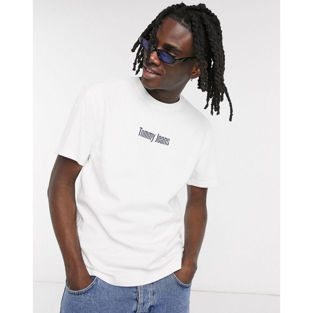 トミー ジーンズ Tommy Jeans メンズ Tシャツ トップス【text chest and back logo t-shirt in white】White